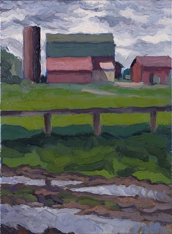 Barn After Rain