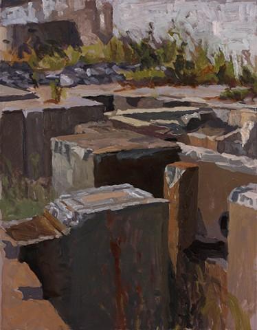 Sunken blocks study