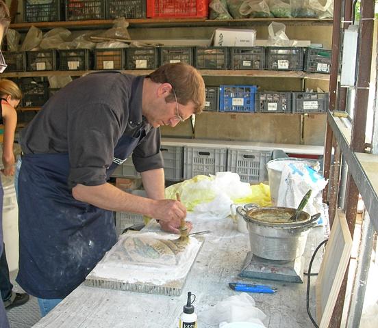 Working at La Scuola Arte del Mosaico di Ravenna