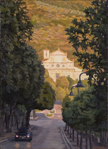 Evening Light on San Pietro, Spoleto
