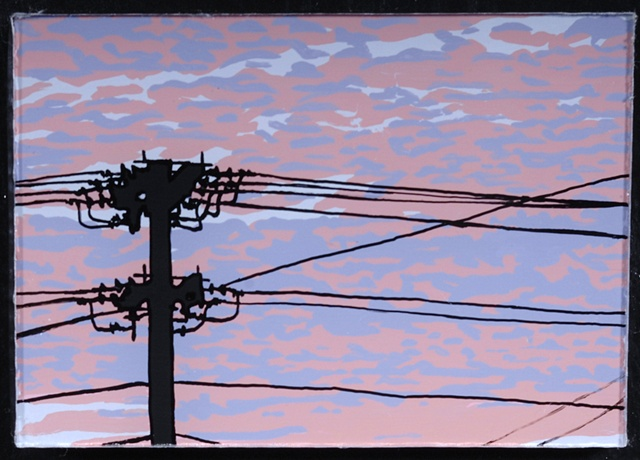 Telephone Pole in Sunset (small)