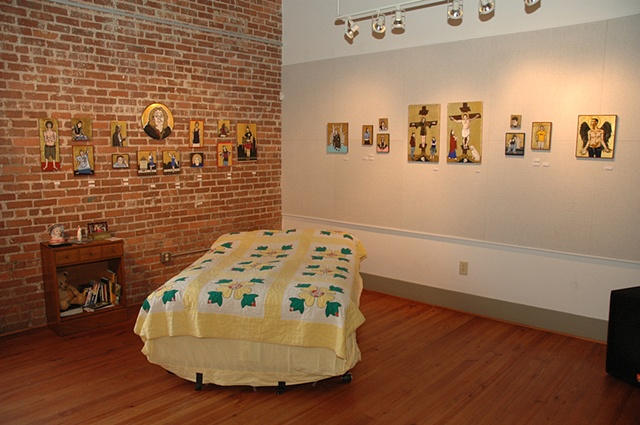 Installation View, Hub-Bub Artist-in-Residence Entrance Show