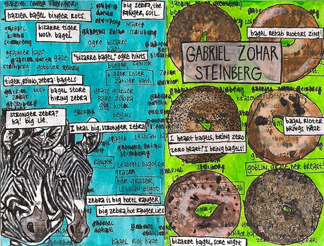 Gabriel Zohar Steinberg, birthday notebook, front and back cover