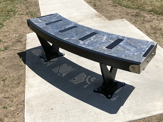 Commissioned public art piece - Art Bench