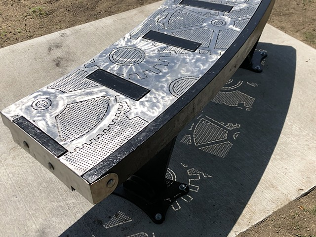 'Sit A Minute' Public Art Bench for the City of Eagan, MN