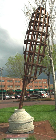 """Sky-Wrighting"" at Sioux Falls Sculpture Walk 2009-2010"