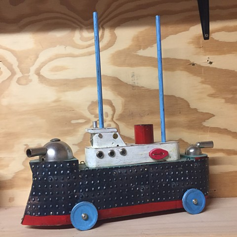 Black Toy Battleship