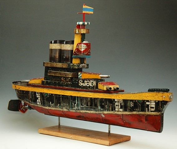 """Coffee Tin Battleship (Ship Series)"""