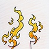Leaping Flaming Shapes Dancing Behind His Eyes