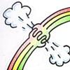 A Rainbow Chokin' the Breeze
