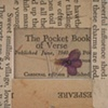 Pocket Book of Verse Detail: Title Page