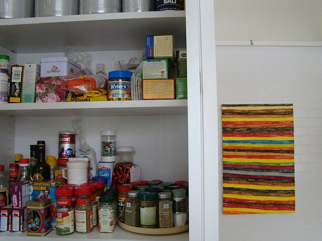 pantry with howard fonda painting
