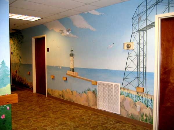 Mail room mural