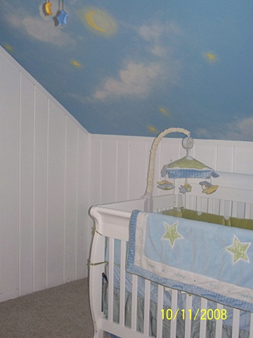 Baby nursery clouds