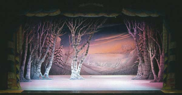 Nutcracker Snow Scene