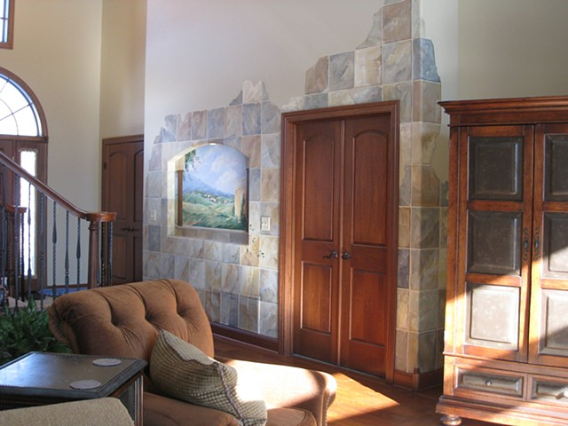 Tuscan Entry Mural