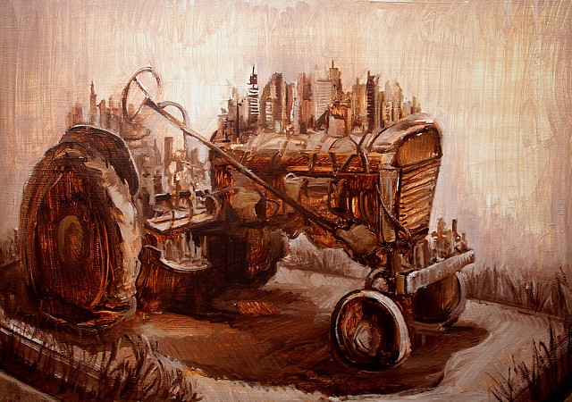 "Study for ""Tractor Levitation"""