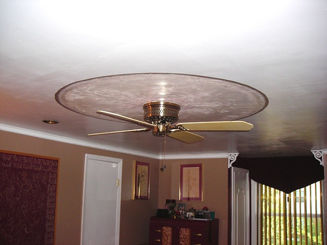 Painting above ceiling fan