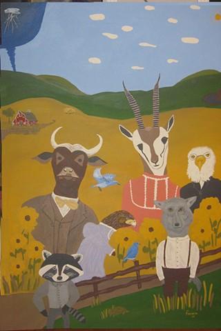 ANIMALS ON THE PRAIRIE OF KANSAS