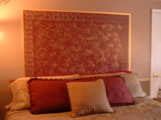 Wall behind bed
