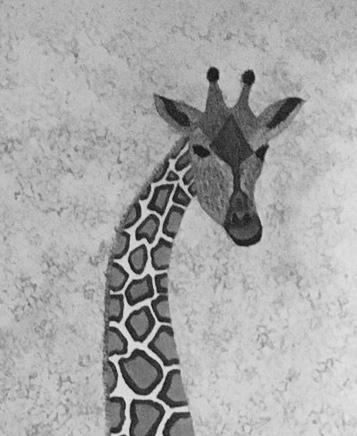 GIRAFFE   BLACK-WHITE