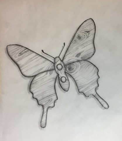 Wooden Butterfly for Shannon (sketch)