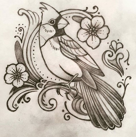 Cardinal for Emily (sketch)