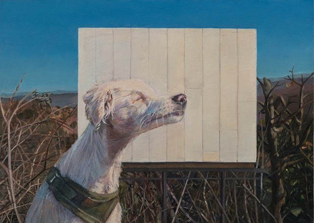 Painting, dog, billboard, los angeles, california