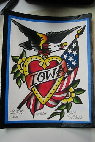 Iowa Sailor Jerry Design