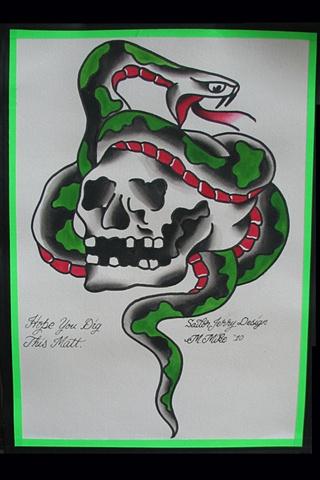 Sailor Jerry Skull Snake