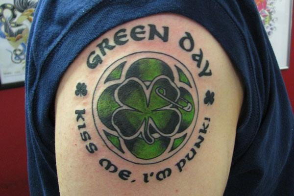 Joel's green day tattoo