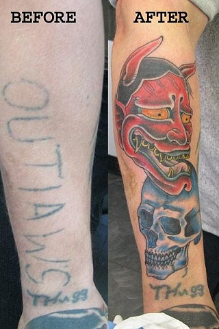 Skull and Hannah Mask cover ups