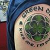 Joel's green day tattoo