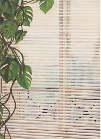 Sandra with Plants and Blinds