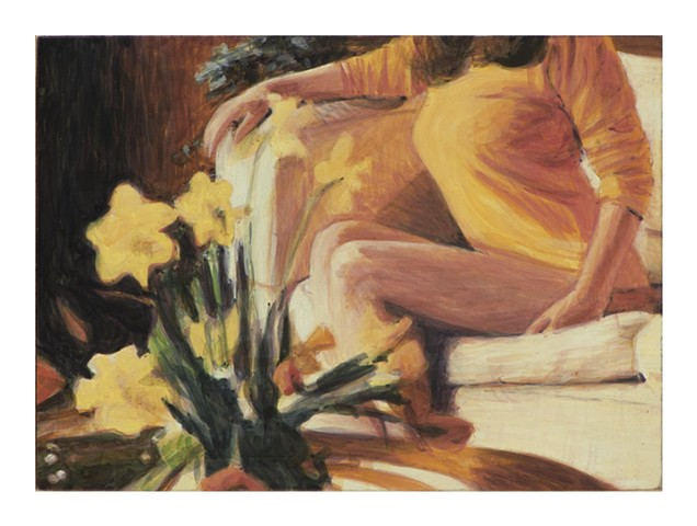 Christina with Daffodils