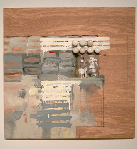 2011 Large scale Paintings on Panel w/ assemblage