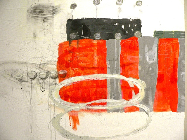 detail, Orange Grey Ellipse