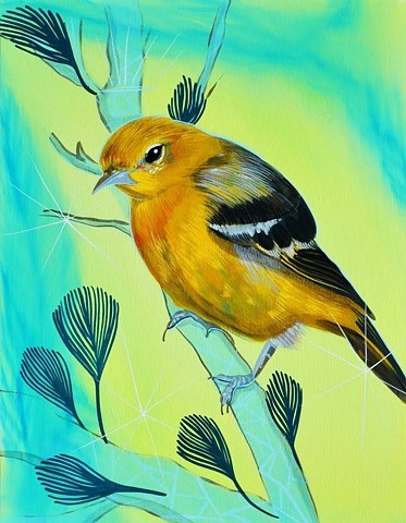 Oriole painting by Anna Todaro Sadur