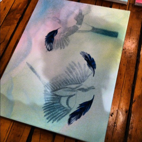 Birds in Flight painting by Anna Todaro Sadur