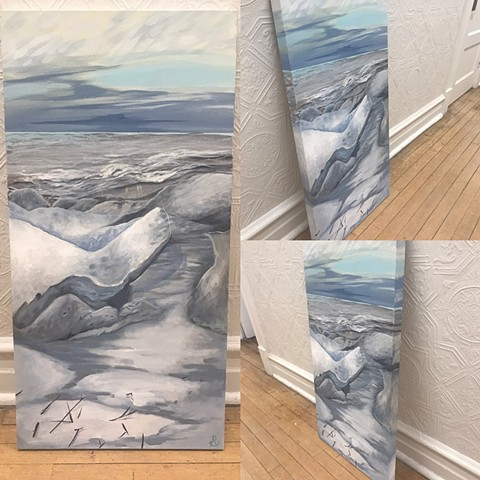 Ice Shoves or Door County on Green Bay painting by Anna Todaro Sadur