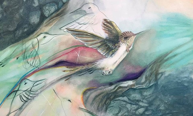 Flying Through 2020 painting by Anna Todaro Sadur