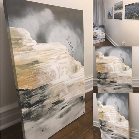 Mammoth Hotsprings from Yellowstone National Park painting by Anna Todaro Sadur