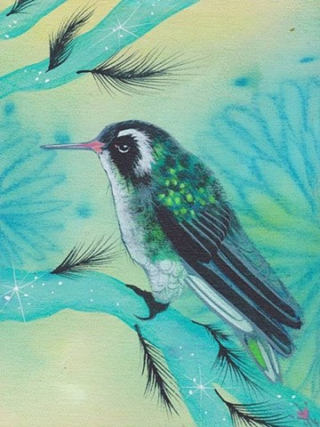 Green Bird painting by Anna Todaro Sadur