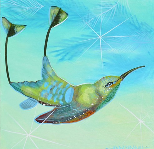 Hummingbird Flight painting by Anna Todaro Sadur