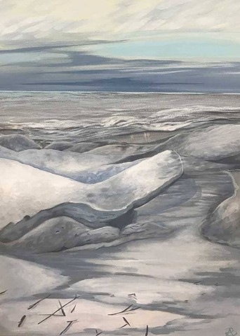 Door County Ice Shoves on Green Bay painting by Anna Todaro Sadur