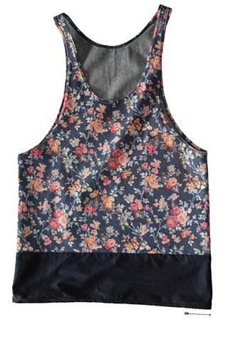 floral print tank top