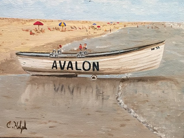Painting of Avalon Lifeboat