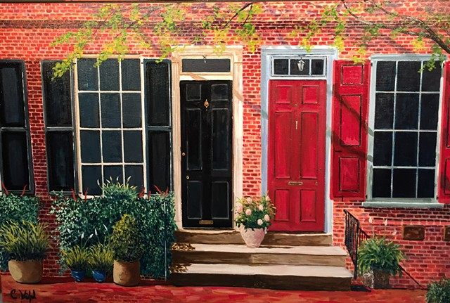 Painting of Delancey Street Home