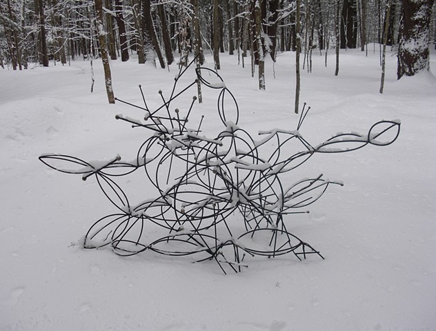 folded in snow