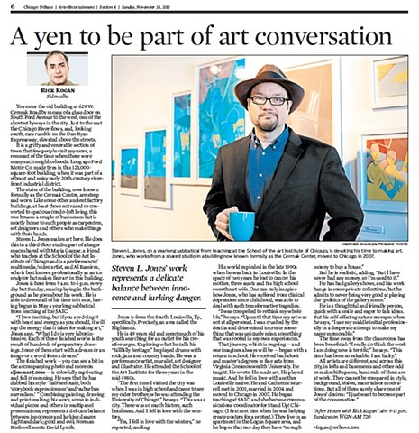 """Steven L. Jones working to make his art a part of the conversation"""
